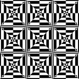 Op art design. Seamless geometric pattern. Royalty Free Stock Image