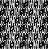 Op art design. Seamless rhombuses pattern. Royalty Free Stock Images