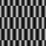 Op Art Design, Striped Checkered Vector Seamless Pattern Royalty Free Stock Photos