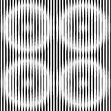 Op Art Design, Striped Vector Seamless Pattern Royalty Free Stock Photography