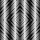 Op Art Design, Tiles with Striped Squares, Vector Seamless Pattern Stock Photography