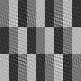 Op Art Design, Zig Zag Checkered Vector Seamless Pattern Stock Images