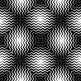 Op Art Design, Zig Zag Striped Vector Seamless Pattern Royalty Free Stock Images