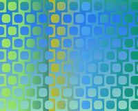 Op Art Displaced Rounded Squares Blue Stock Image