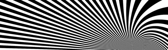 Free Op Art Distorted Perspective Black And White Lines In 3D Motion Abstract Vector Background, Optical Illusion Insane Linear Pattern Stock Photo - 196020410