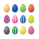 Op Art Easter Eggs Royalty Free Stock Photography