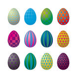 Op Art Easter Eggs Stock Photos