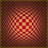 Op Art Expand One Red Yellow Royalty Free Stock Photography