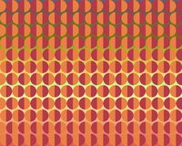 Op Art Facing Each Other Orange Brown Green Royalty Free Stock Photography
