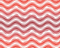 Op Art Flowing Stripes Red White Stock Photo