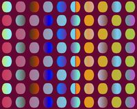 Op Art Go To The Party Through The Holes Stock Photography