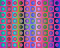 Op Art Go To The Party In Red Blue And Green Royalty Free Stock Image