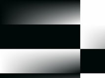 Op Art Gradient Checkerboard Black and White One Stock Photos