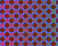 Op Art Gradient Circles Blue And Red Stock Photography