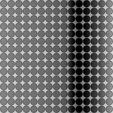 Op Art Gradient Polka Dots Monochrome Black Royalty Free Stock Images