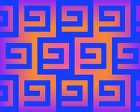 Op Art Greeks Neon Blue And Orange Royalty Free Stock Photo