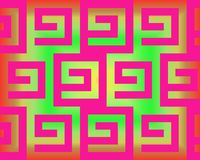 Op Art Greeks Neon Fuchsia And Green Royalty Free Stock Image