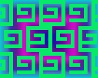Op Art Greeks Neon Green And Gradient Stock Photography