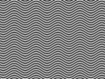 Op Art Homage to BR Black/White Horizontal Waves Royalty Free Stock Images