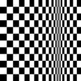 Op Art Homage to BR Distorted Checkerboard Stock Photography