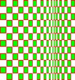 Op Art Homage to BR Vanishing Squares One Royalty Free Stock Image
