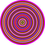 Op Art Homage to CT Multicolor Circles Stock Image