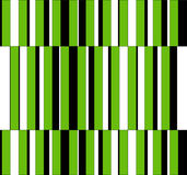 Op Art Homage to GF Vertical Stripes Green One Stock Photos