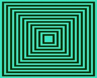 Op Art Homage To The Square Greenish Blue Black Stock Image
