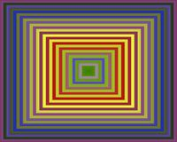 Op Art Homage to the Square Purple To Green Stock Photo