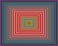 Op Art Homage to the Square Violet To Green Stock Images