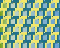Op Art Homage To T Blue And Yellow Stock Photography