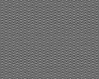 Op Art Horizontal Waves Black and White 01 Royalty Free Stock Image