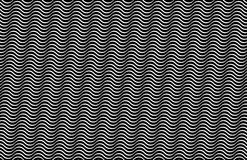 Op Art Horizontal Waves Black and White Nudged 01a Stock Images