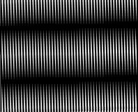Op Art Linear Moire Black and White One Stock Images