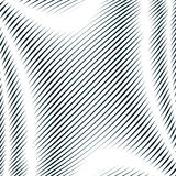 Op art, moire pattern. Relaxing hypnotic background with geometr Royalty Free Stock Images