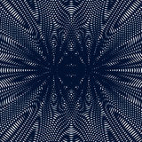 Op art, moire pattern. Relaxing hypnotic background with geometric black lines. vector illustration