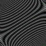 Op art, moire pattern. Relaxing hypnotic background with geometric black lines. royalty free illustration