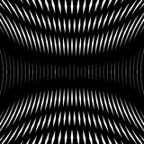 Op art, moire pattern. Relaxing hypnotic background, geometrc Stock Images
