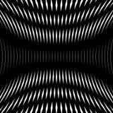 Op art, moire pattern. Relaxing hypnotic background, geometrc. Op art, moire pattern. Relaxing hypnotic background with geometric black lines Stock Images