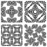 Op art monochromatic patterns 2 Royalty Free Stock Photo