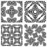 Op art monochromatic patterns 2 Royalty Free Stock Photo
