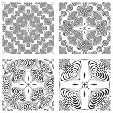 Op art monochromatic patterns 3 Royalty Free Stock Photo