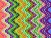 Op Art Multicolor Zig Zag One Stock Image