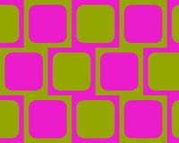 Op Art One Rounded Squares Magenta And Green Stock Image