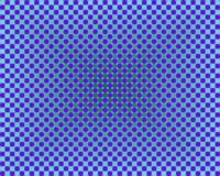 Op Art One Thousand Circles Gradients Blue Stock Image