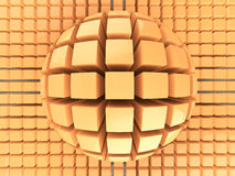 Op art orange color sphere pattern Royalty Free Stock Photo