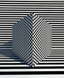 Op Art pattern Back and white backgrounds Stock Photos
