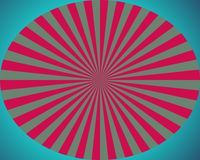 Op Art Red And Blue Sunburst Stock Photos