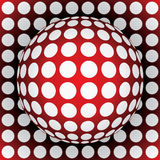 Op-art red sphere. 3d vector illustration Royalty Free Stock Images