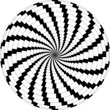 Op Art Rotating Windmills Black and White Stock Image